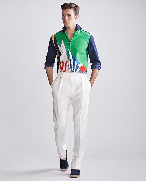 RLX Sail Silk-Blend Shirt