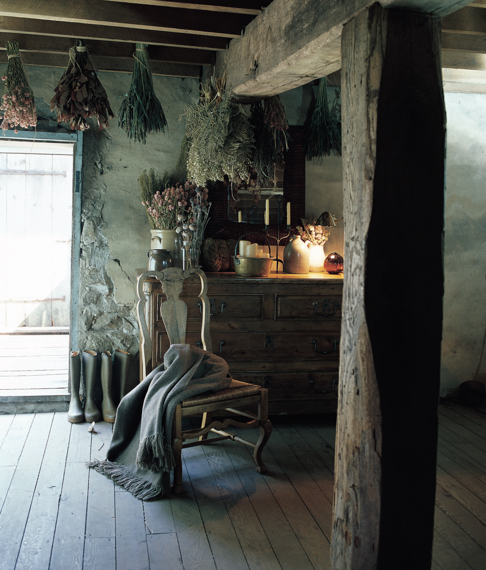 Scroll through these images to discover the timeless beauty of things that get better with age—from wooden beams, weathered flooring, and dried flowers to old pickups, books, vintage clothing, and the beautiful patina of aged paint on walls, cupboards, and front doors