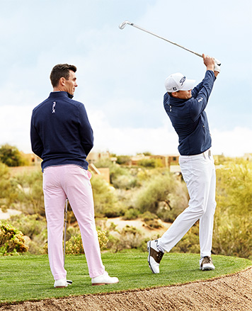 effeda37e Billy Horschel in light pink golf pants. Men s Pants