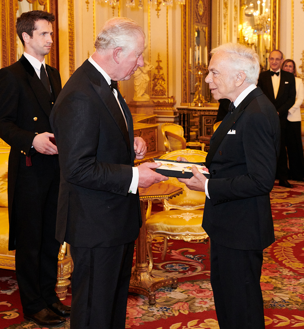 Ralph Lauren with His Royal Highness The Prince of Wales on June 19, 2019