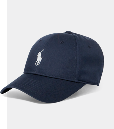 Navy baseball cap with Polo Pony at front