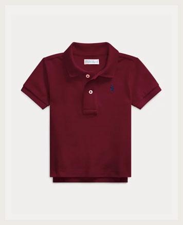 Maroon Polo shirt.