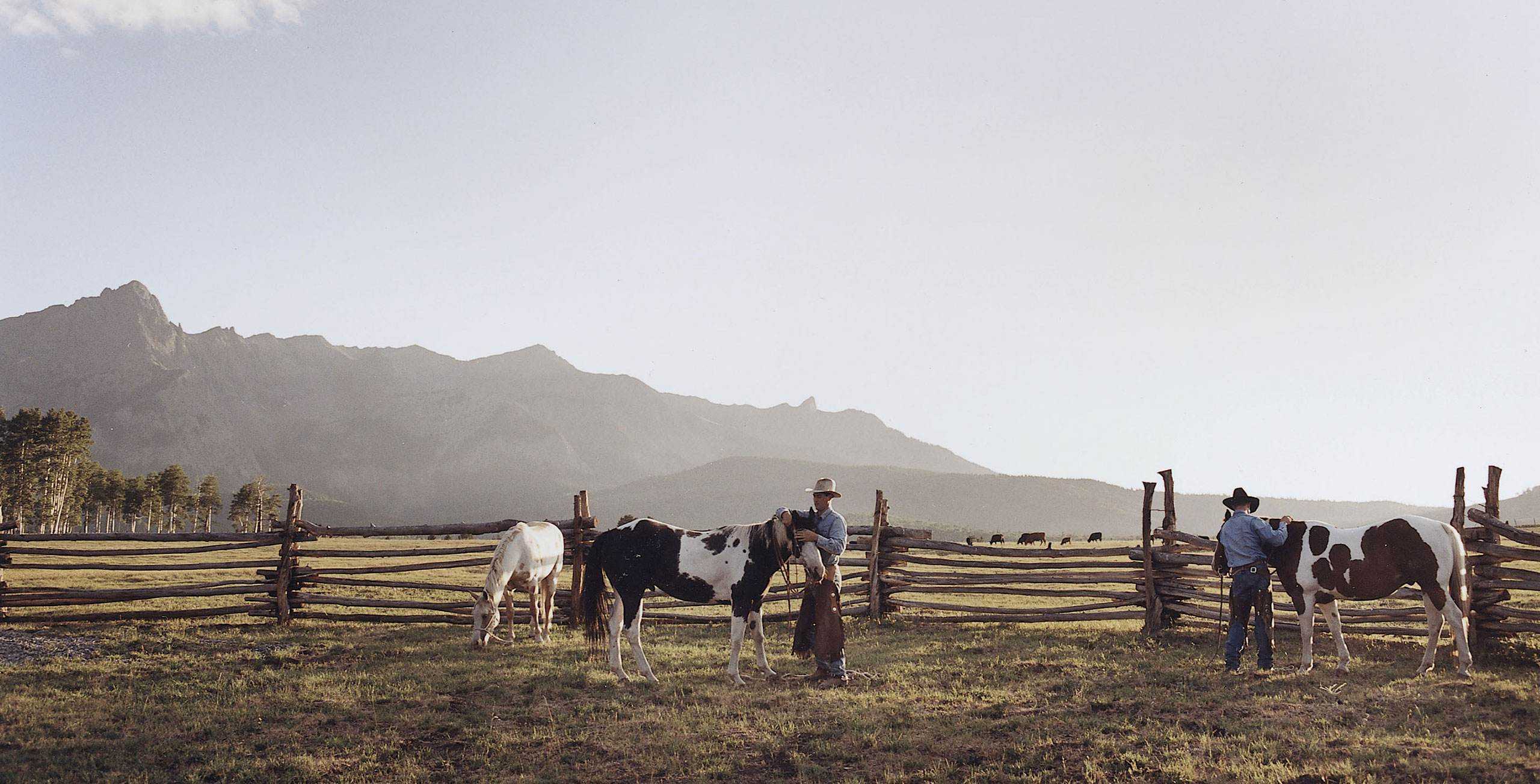 The Double RL Ranch, which spans 17,000 acres in Colorado, supplies beef to Ralph Lauren's restaurants in New York and Chicago