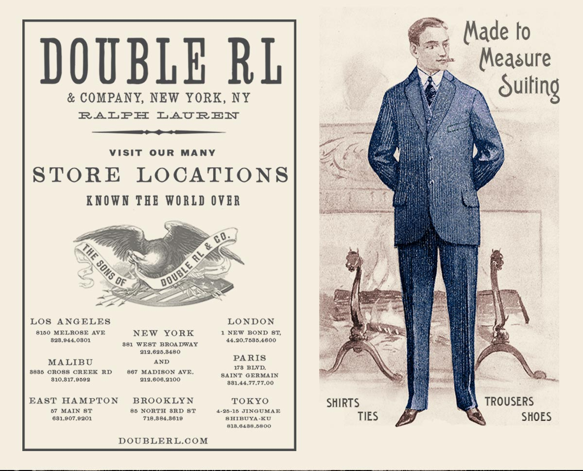 Illustrations of man in blue suit