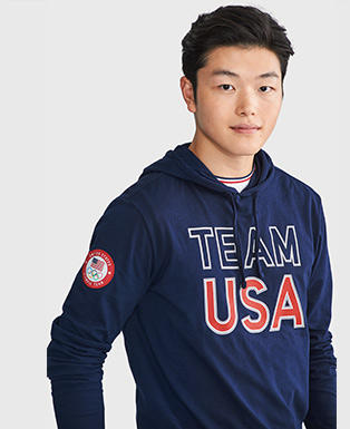 Team USA Cotton Hooded T-Shirt