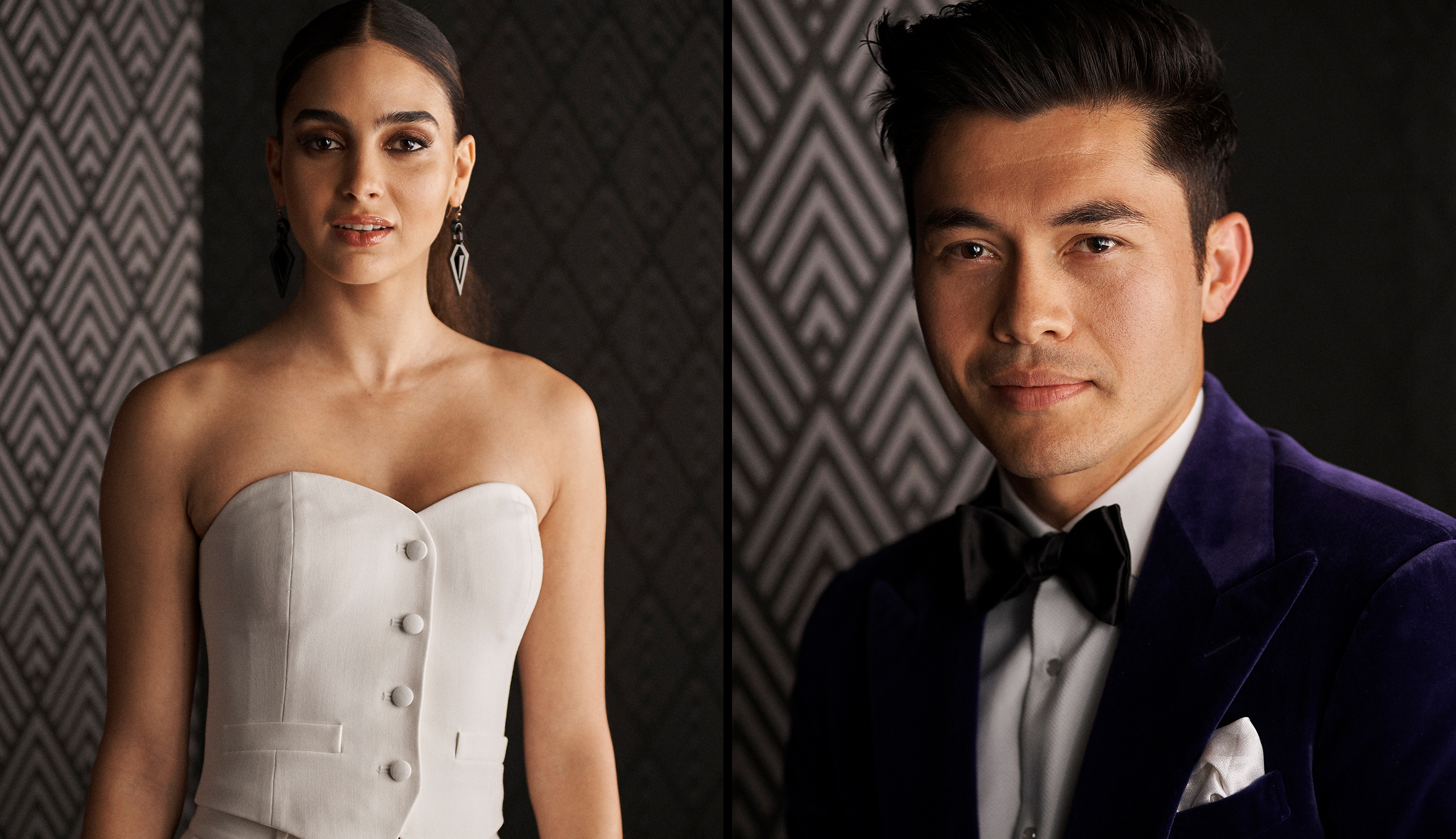 Left: Melissa Barrera;  Right:  Henry Golding