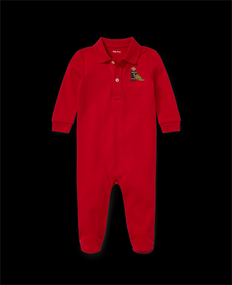 Holiday Bear Cotton Coverall