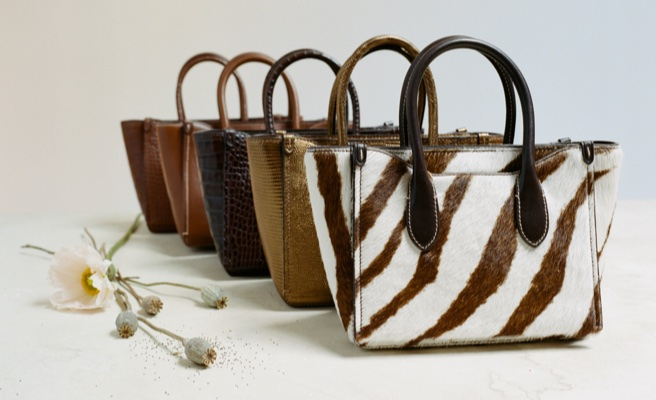 bags in different shades of haircalf and leather.