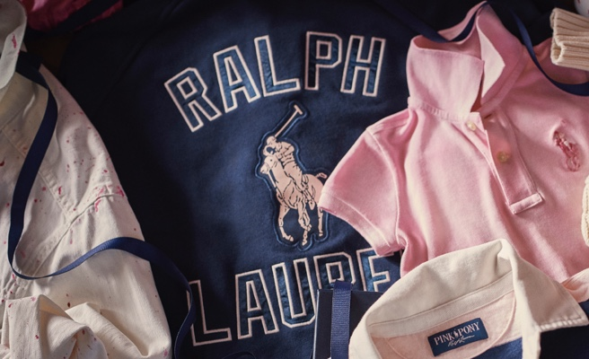 Pink Pony Ralph Lauren apparel in pink and blue