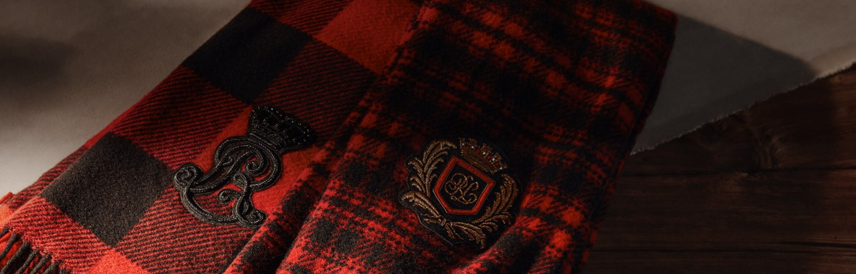 Red & black buffalo check & plaid scarves