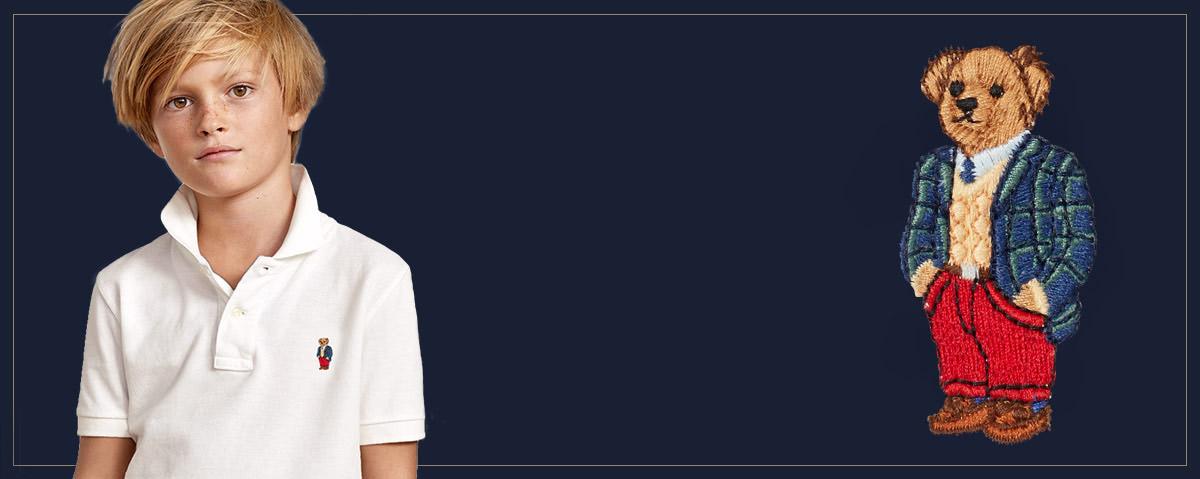 Alternating image of boy wearing customized Polo shirt. 91aae16f256f6