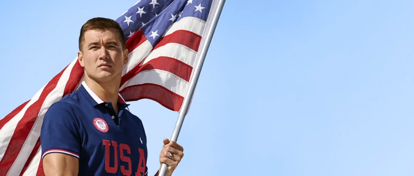 Olympic athletes wearing apparel from the One-Year-Out collection