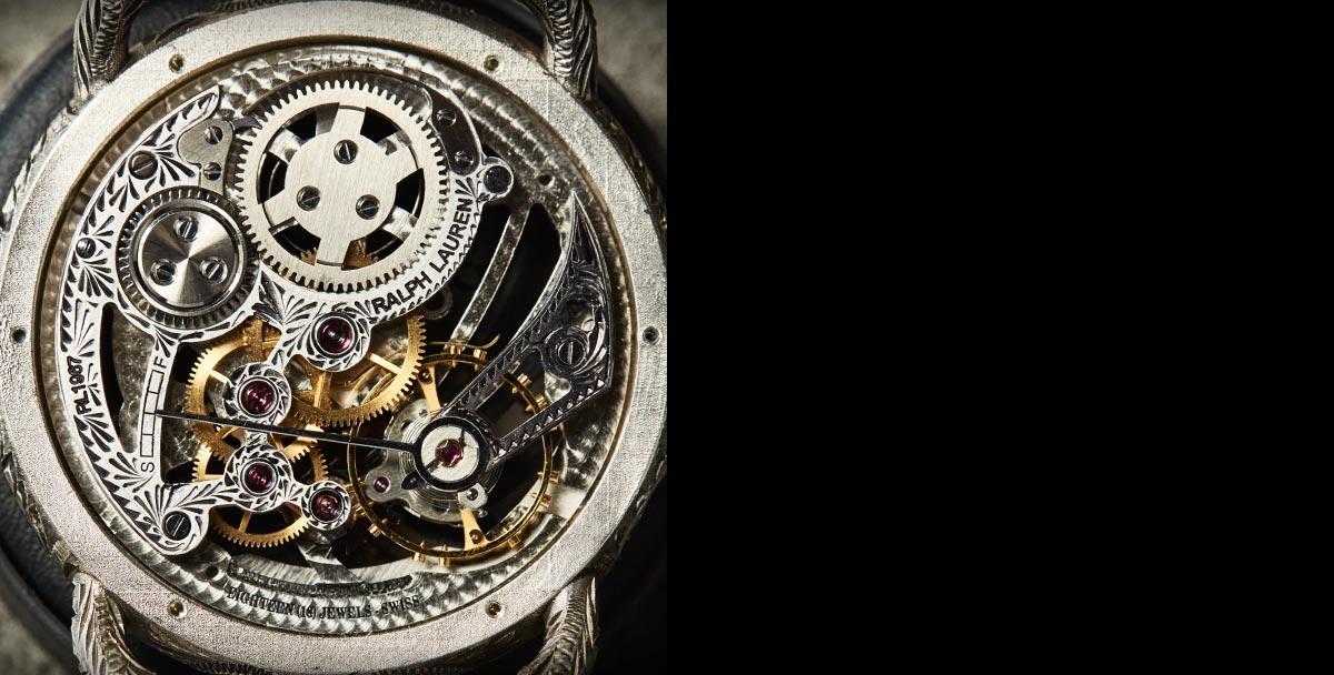 Detail shots of the watch engravings & inner workings