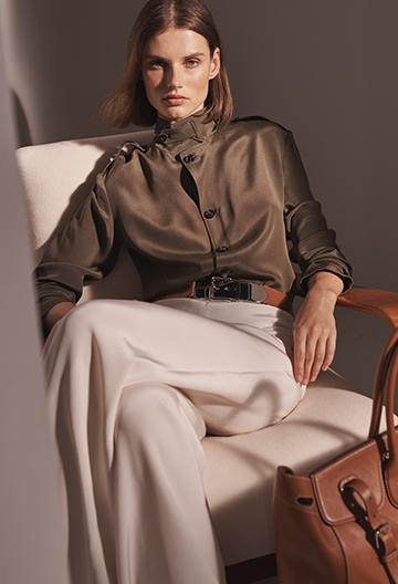Ansley Silk Marocain Shirt