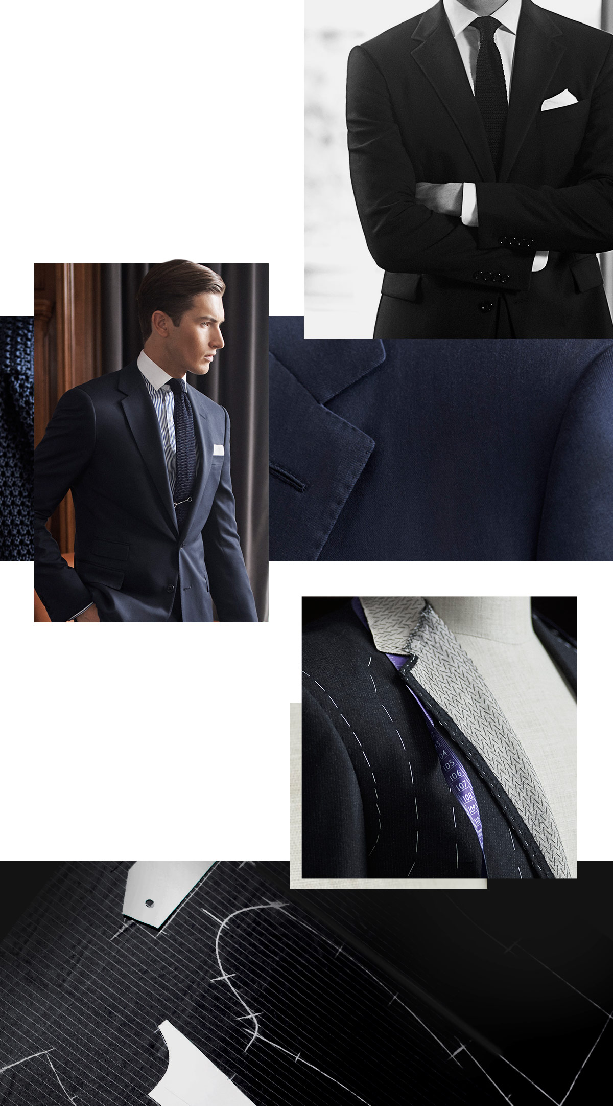 Photographs of various details of the Gregory suit.
