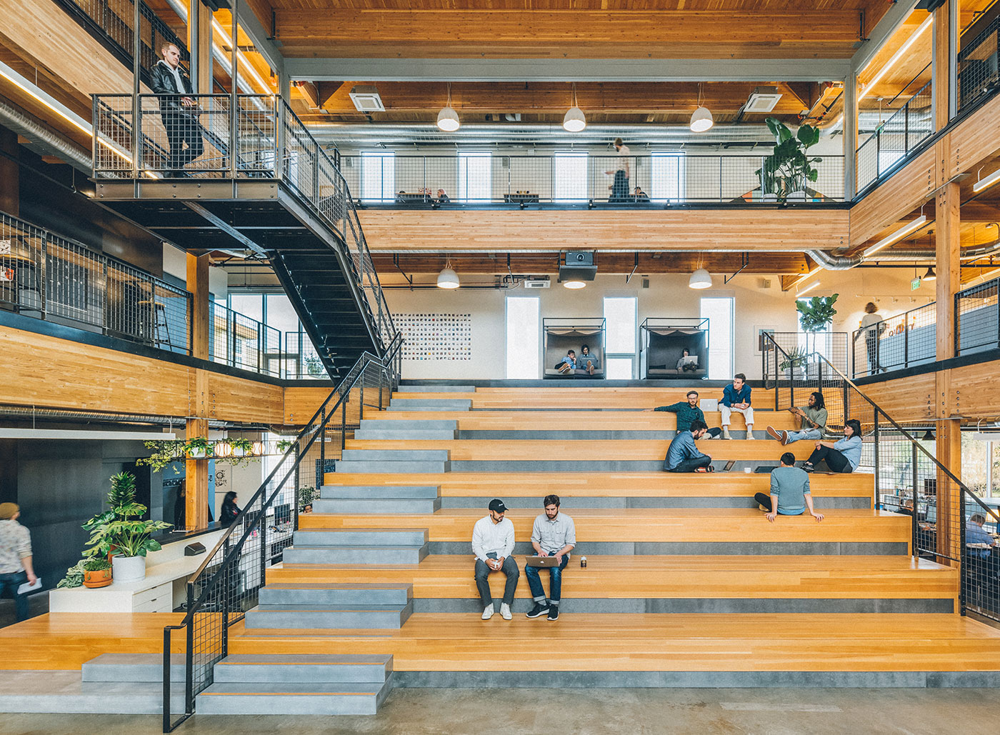<strong>INSTRUMENT: PORTLAND, OREGON | </strong>The three-story atrium and auditorium dominates the offices of one of Portland, Oregon&#x2019;s top digital creative agencies