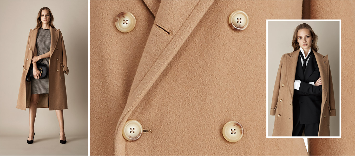Woman in blazer worn three ways