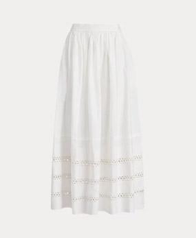 Lace-Trim Maxiskirt