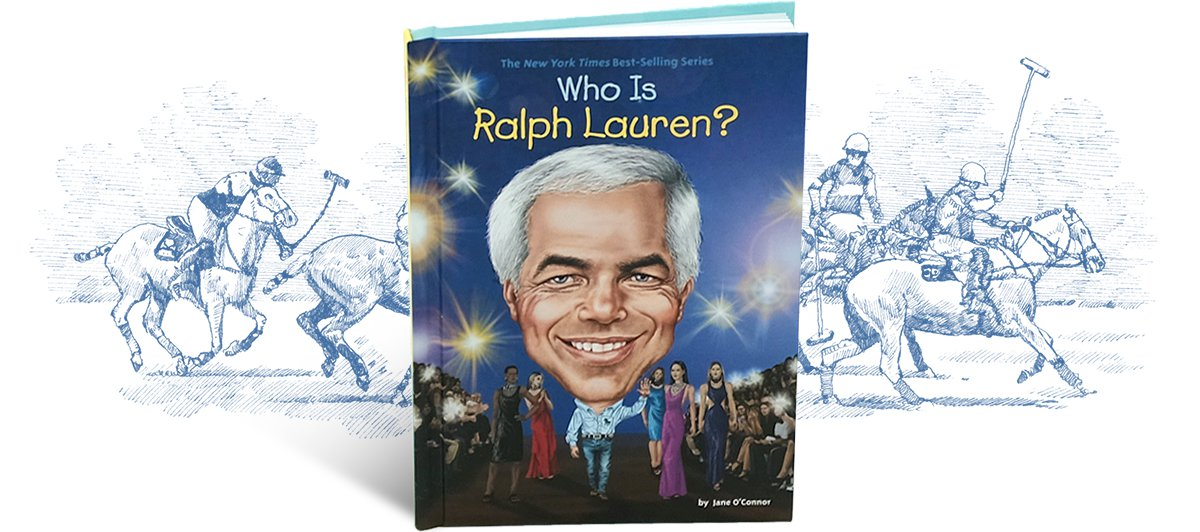 Illustrated cover of the Who Is Ralph Lauren? children's book