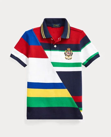 401b3559 Kids: Shop by Category. Patchwork striped Polo shirt ...