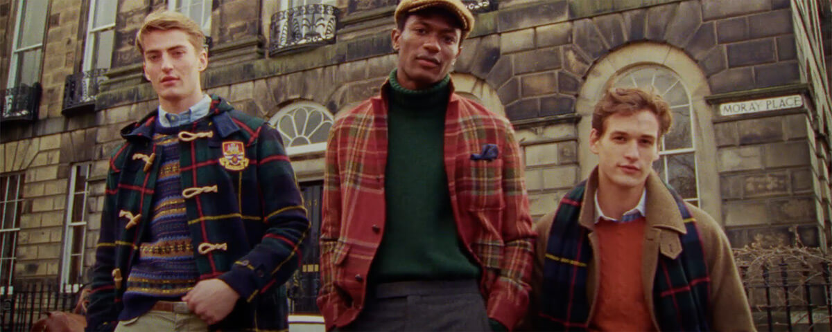 Men in autumn-hued plaid layers & outerwear