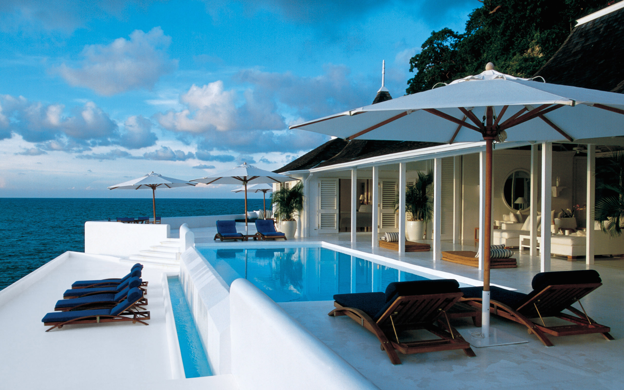 The view from White Orchid, Ralph Lauren's oceanside cottage in Round Hill, Jamaica
