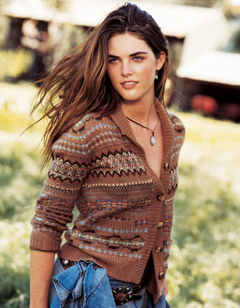 Hilary Rhoda's RL debut in 2003, shot by Bruce Weber