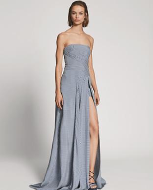 O'Hara Gingham Oxford Gown