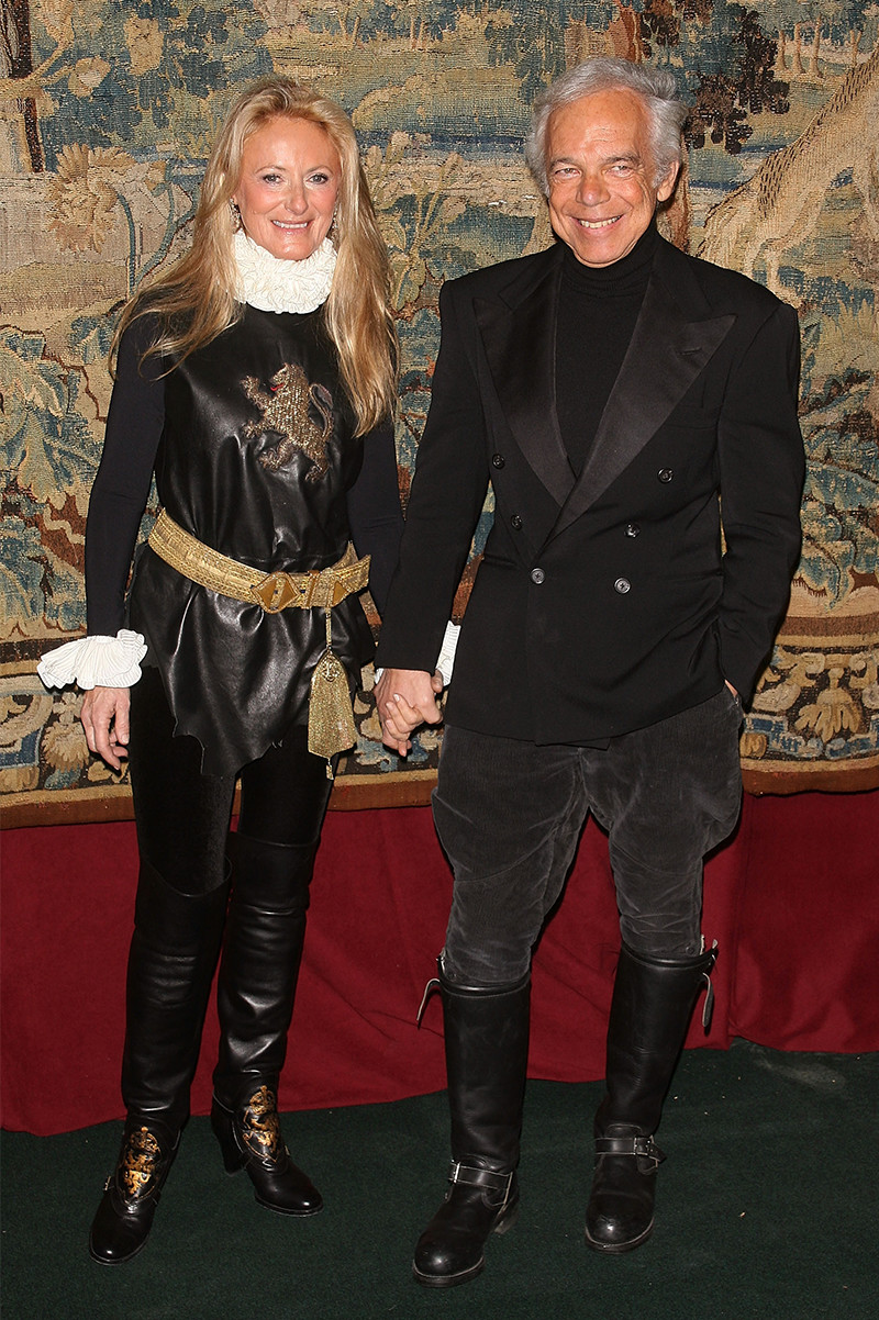Ralph and Ricky Lauren at a 7th on Sale Black-tie Gala Dinner in <br/>New York City
