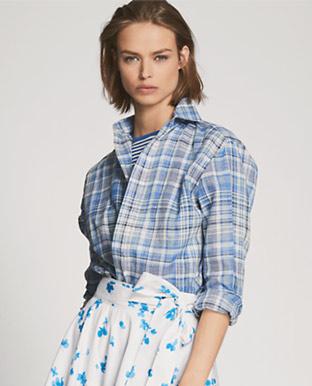 Adrien Plaid Linen Shirt