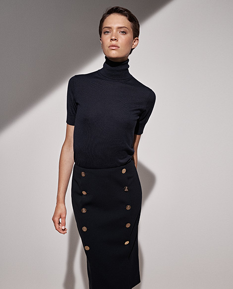Ophelie Wool Blend Skirt