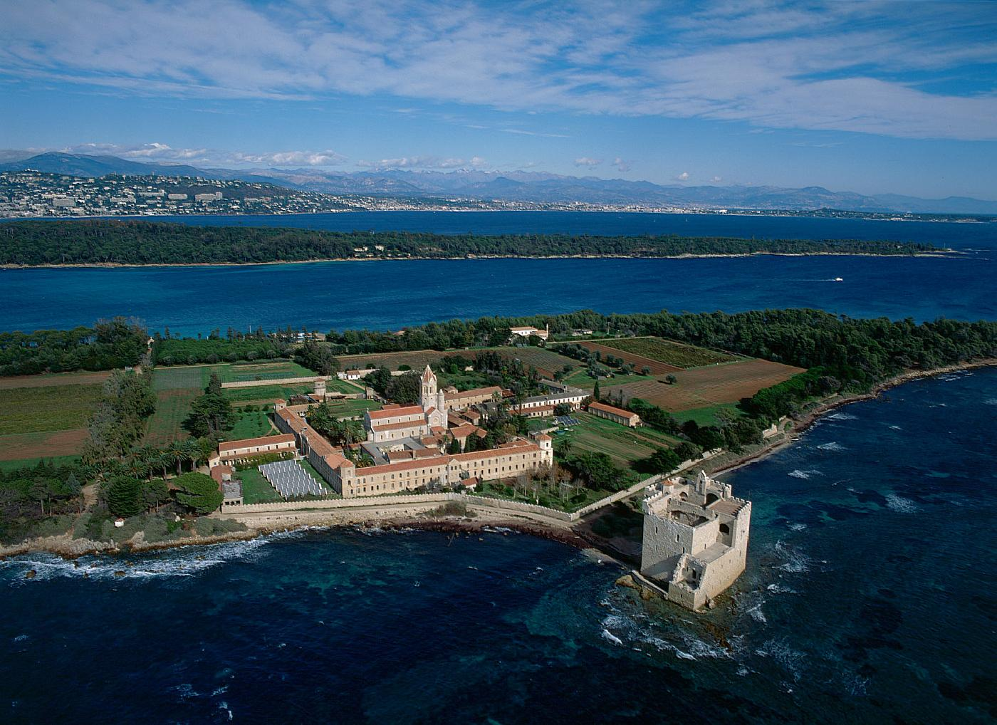 The quiet island of Île Saint-Honorat is home to a fifth-century abbey and wine-making monks