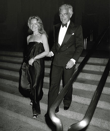 Ralph and Ricky leaving a dinner party in September 1988