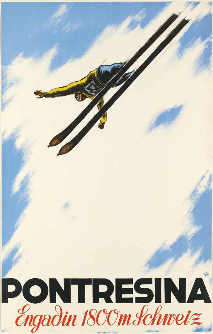 Early alpine modernism: a ski poster from the 1930s