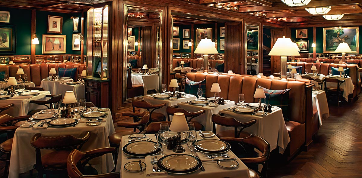 Photograph of The Polo Bar's dining room.