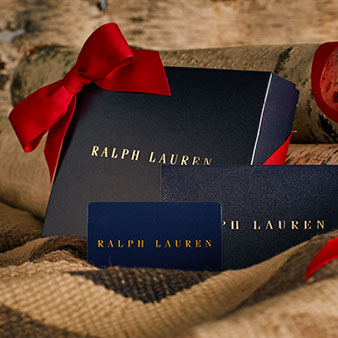 Navy gift box with red ribbon