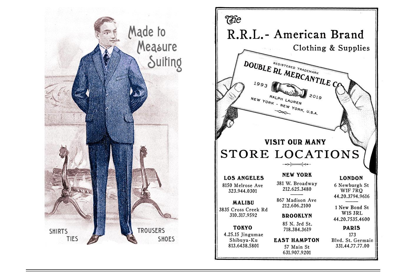 Illustration of man in navy pinstripe suit