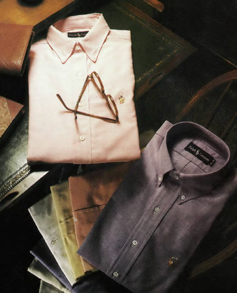 Light pink & washed navy dress shirts