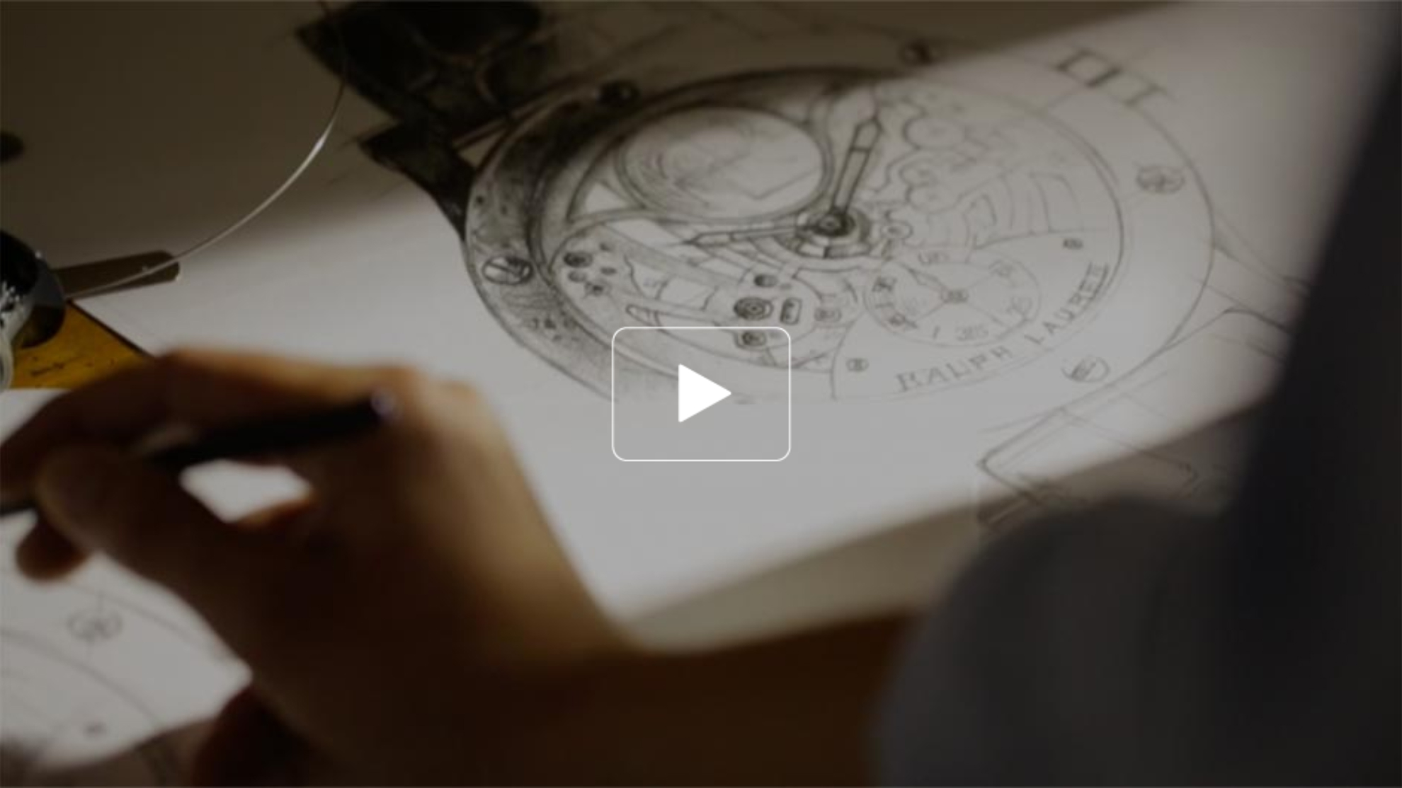 Sketch of the gears inside a watch
