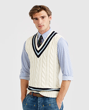 Cotton Cricket Sweater Vest