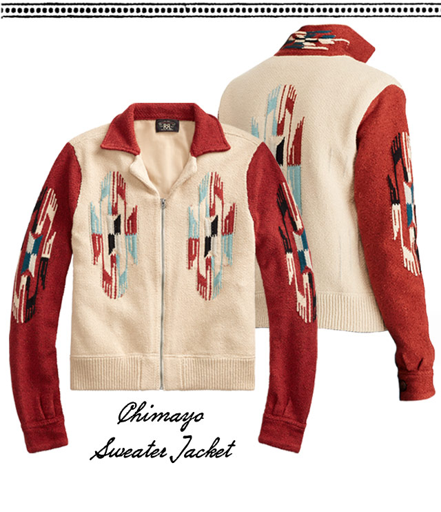 Sweater jackets with red contrast sleeves