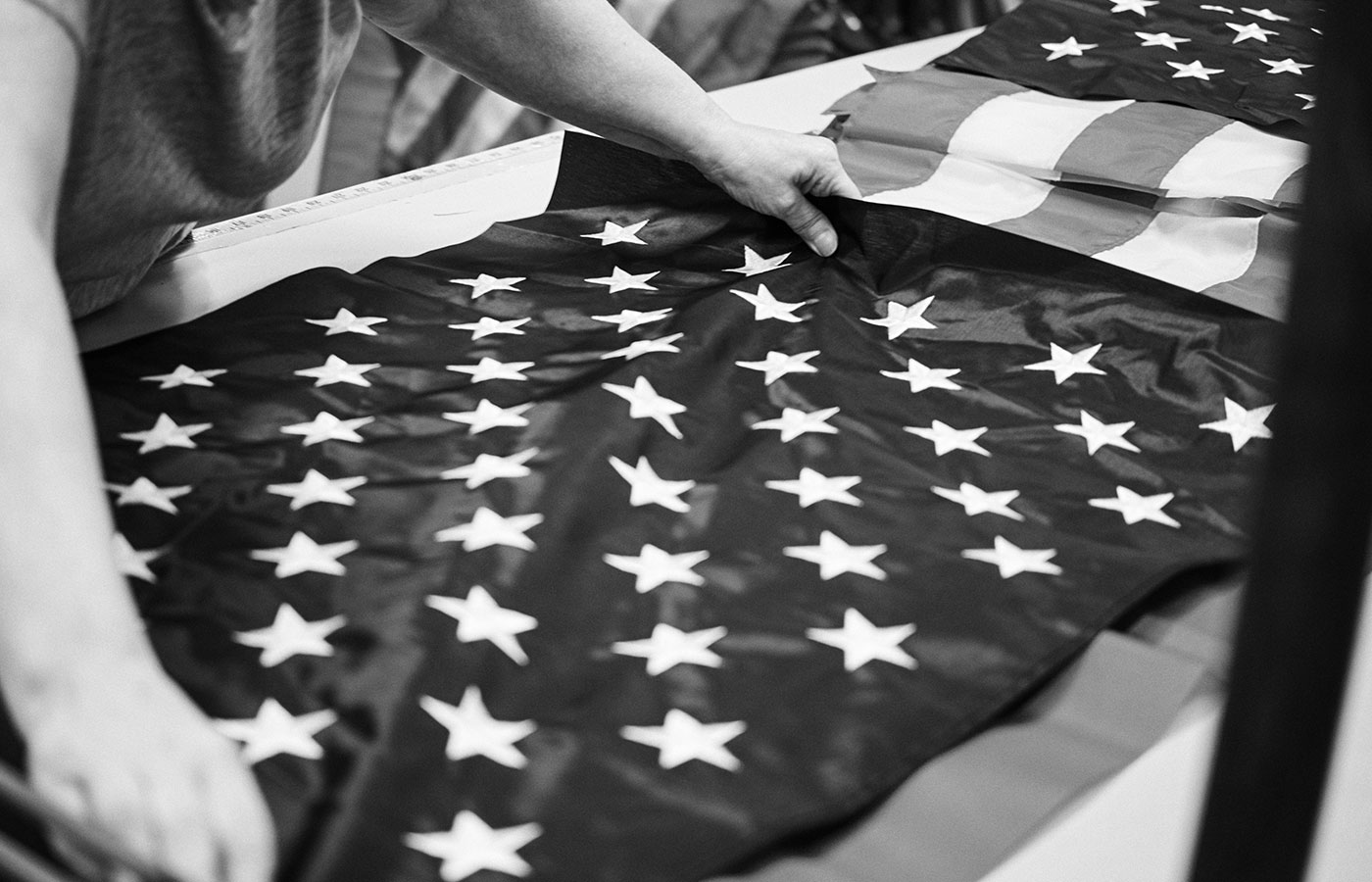 Click through the slideshow above for Jack O'Connor's exclusive photos of the Annin Flagmakers factory in Coshocton, Ohio