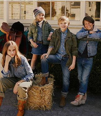 Kids wear Polo denim styles.
