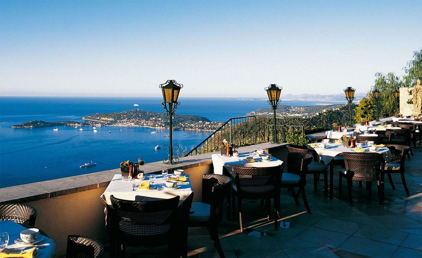 La Chèvre d'Or boasts two Michelin stars and vertiginous views of the Med