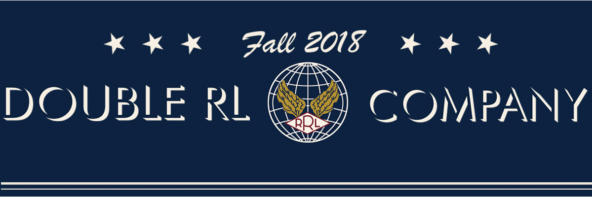 Navy banner with white stars & Fall 2018 Double RL & Company