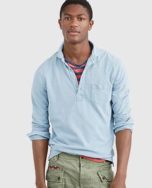 Custom Slim Fit Indigo Shirt