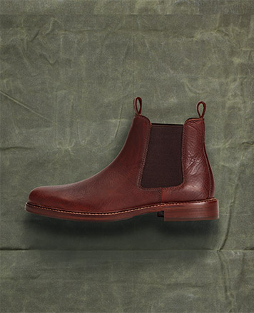 Leather & suede boots with front buckle