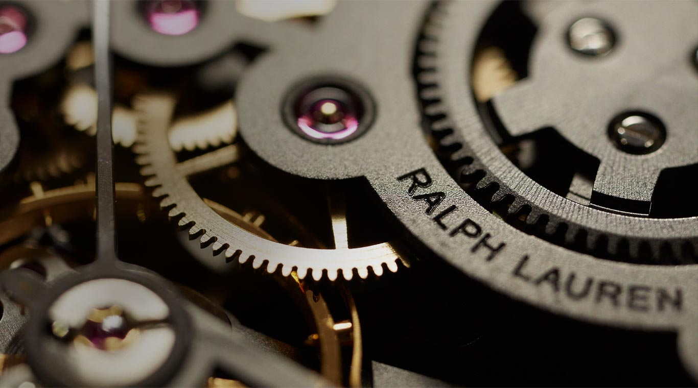 Close-up of the Automotive watch's intricate inner workings