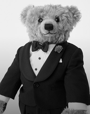 Photograph of Polo Bear in tuxedo