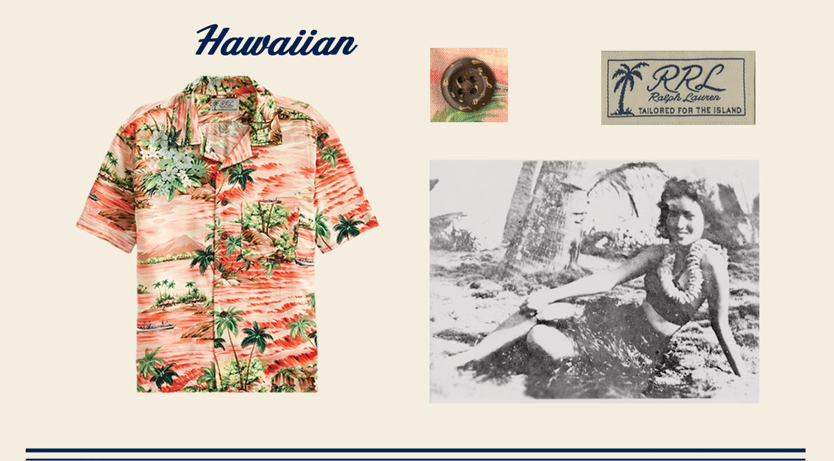 Hawaiian-print short-sleeve shirt with coconut buttons